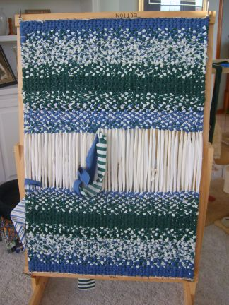 My Latest Project   Weaving A Rag Rug